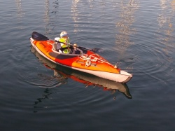 The kids both now have their own kayaks