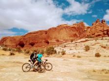 Dan and Ashley biking in Moab UT