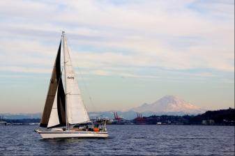 Sailing back from Blake Island