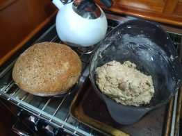 Baking fresh bread