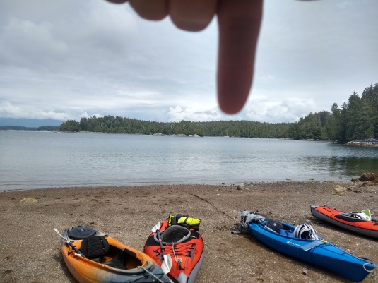 Kayaked to a sandy beach