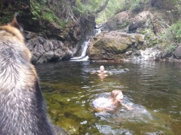 Swimming in Cataract Creek