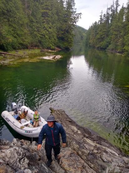 The beginning of Lucky Creek